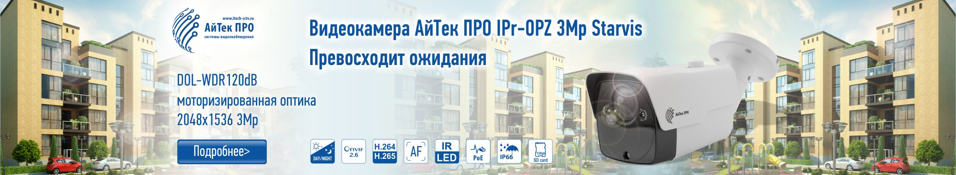 Камера IPr-OPZ 3 Mp